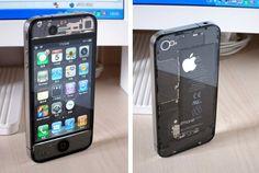 Já tentaram de tudo em questão de case de iPhone 4, mas o mais legal que ví até hoje é esse. Isso é o estilo Steampunk se manifestando na tecnologia, deixando as engrenagens, fios, placas, tudo a mostra, como elementos do design. A Apple é mestre em fazer uma engenharia bonita.Lí no Gizmodo BR
