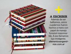 """Revista GQ. Por ser hechos a mano con papel certificado de tala responsable, GQ dice que nuestros cuadernos son un """"lujo inteligente"""". ¡Nos encantó!"""