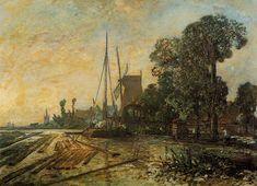 Jongkind_Johan_Berthold~Windmill_near_the_Water.