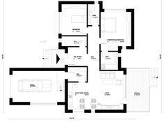 case mici sub 100 de metri patrati Small houses under 100 square meters 7 Square Meter, Small Houses, Euro, Floor Plans, Houses, Modern, Little Houses, Tiny Houses, Small Homes