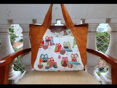 Bolsa/Sacola das Corujas - Bolsa/sacola em tecido - Maria Adna Ateliê - Bolsa/sacola - YouTube