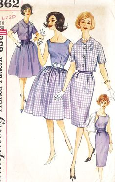1960s Misses Dress with 2 skirts