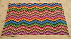 """My sixth Bargello finished!!!!❤"" from Doris Gomez (These art or pillow or blanket patterns were found at a sub-section board at i.pinimg.com OR searching DG's can't remember which) Breathtaking! All her work is so beaufs Mis Bargellos subsection (followed)"