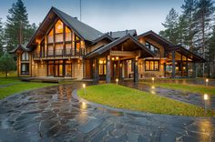 Most Popular Dream House Exterior Design Ideas - Rustic Home Design, Dream Home Design, My Dream Home, Mountain Dream Homes, Modern Mountain Home, Style At Home, Lac Tahoe, Villa, Timber House