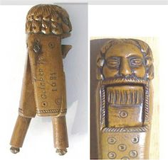 English level Nutcracker dated 1681 Good Luck To You, Black Forest, Vintage Love, Vintage Photographs, Wood Carving, Antique Brass, Primitive, Medieval, Old Things