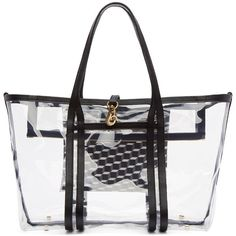 Pierre Hardy Clear Vinyl Polycube Tote (4,040 CNY) ❤ liked on Polyvore featuring bags, handbags, tote bags, multi black, structured tote bag, clear vinyl tote bags, tote handbags, vinyl tote bag and zippered tote bag