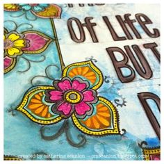 Art Journal page by Catherine Scanlon for Sizzix.