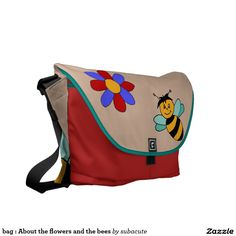 bag : About the flowers and the bees Messenger Bag