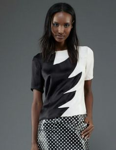 MARC BY MARC JACOBS Flame Crepe Top