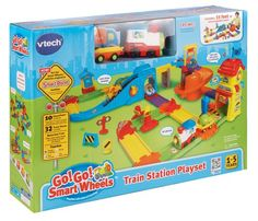 VTech Go! Go! Smart Wheels - Train Station Playset, NEW, FREE SHIPPING- $50.95