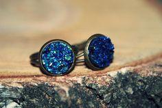Pierścionek niebieski kamień górski w Only inherently na DaWanda.com dla W