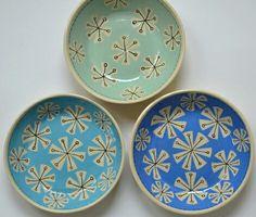 Handmade Ceramic plates ~ Made by me