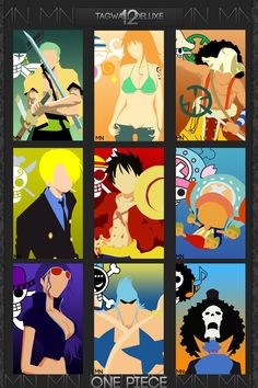 Straw Hat Pirates crew Monkey D. Luffy, Tony Tony Chopper, Roronoa Zoro, Sanji, Brook, Usopp, Nami, Franky, Nico Robin One piece