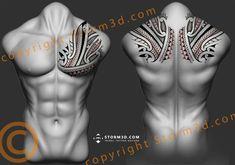 High quality tattooflash drawings: Polynesian inspired tatau designs by Storm3d