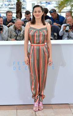 Marion Cotillard in Ulyana Sergeenko Demi Couture. See all the looks from the Cannes Film Festival.