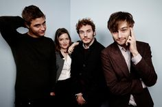 Holliday Grainger, Max Irons, Douglas Booth and Sam Claflin at event of The Riot Club (2014) | TIFF14