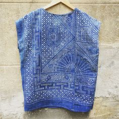 Jess Feury antique indigo lace tunic