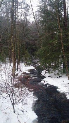 Snowy stream, Canterbury, New Hampshire. ~kboehmstudio