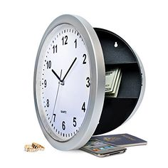 Protocol Wall Clock with Hideaway Safe - Full Functioning Wall Clock With Safe Compartment Protocol