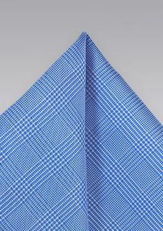 Ziertuch Karo-Struktur ultramarinblau