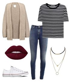 """Untitled #2"" by savjean-1 ❤ liked on Polyvore featuring Supra, T By Alexander Wang, Joie and Converse"