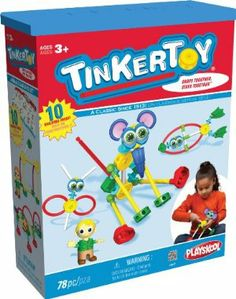 Tinker Toy Animals Building Set by Tinker Toy. $26.21. Inspires imagination, play and learning. 10 Easy-to-assemble ideas for all skill levels. 78 durable, lightweight plastic pieces. Colorful pieces snap together and stay together for long-lasting play. Young builders can create a fish, turtle, mouse and more. From the Manufacturer                The Tinkertoy Animals Building Set is designed to encourage young builders to play and learn. Builders ages 3+ can cr...