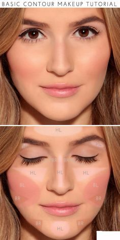 Cool DIY Makeup Hacks for Quick and Easy Beauty Ideas - Basic Contour Makeup - How To Fix Broken Makeup, Tips and Tricks for Mascara and Eye Liner, Lipstick and Foundation Tutorials - Fast Do It Yourself Beauty Projects for Women http://diyjoy.com/makeup-hacks