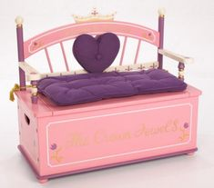Princess Toy Box Bench by Levels Of Discovery at LuxuryLamb. Shop for Princess Toy Box Bench from Play-Time / Toy Chests / Toy Boxes collection at affordable prices. Wooden Toy Chest, Wooden Toy Boxes, Wooden Toys, Dress Up Storage, Princess Toys, Royal Princess, Princess Chair, Princess Theme, Princess Dresses