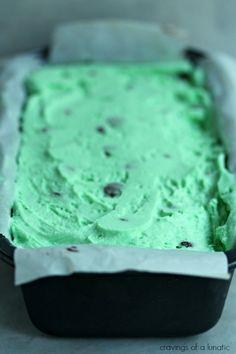 Mint Chocolate Chip Ice Cream Cake   Cravings of a Lunatic   #icecreamweek #icecream #cake
