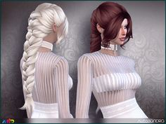 Sims 4 Hairs ~ The Sims Resource: Alessandra Hair by Anto 4 Braids, Long Braids, Sims 4 Tsr, Sims Cc, Los Sims 4 Mods, Free Sims 4, Mod Hair, The Sims 4 Cabelos, Pelo Sims