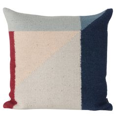 Kelim Cushion 50x50cm, Rose Triangle, Ferm Living