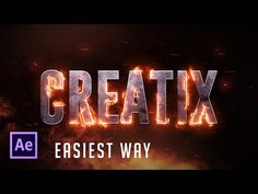 After Effects Tutorial: Real Fire Text effect (Easiest Way!) !!! - YouTube