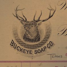 Proud badge of a Dayton, OH manufacturer.  That buck has his eye on you.  #typehunter #ohioquality #vintagebrand #billhead