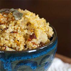 Winter Quinoa Recipe with Squash, Pears and Almonds