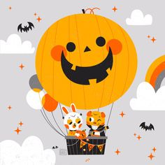 Cute Halloween drawing art by Pamela Barbieri