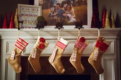 Personalized Christmas Stocking Red and by PinkSlipInspiration, $42.00