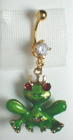 Frog Belly Ring. I Want it!