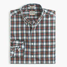 Secret Wash shirt in royal tartan