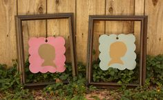 Cute silhouettes from a twin-themed baby shower.