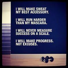 I will run harder than mascara