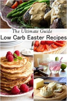 This ultimate guide to low carb Easter recipes includes more than 50 submissions that will have you enjoying the day with everyone else while noshing on seriously good stuff! There are a variety of recipes from cocktails to candy created by some of your favorite low carb bloggers for the best low carb Easter menu ever!  From Lowcarb-ology.com #lowcarb #keto #easter via @maryelowcarb-ology
