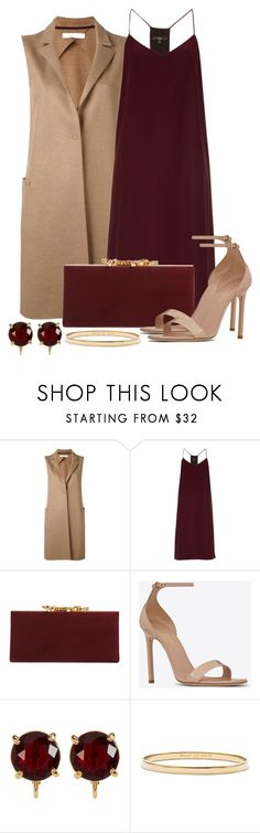 """Untitled #1464"" by gallant81 ❤ liked on Polyvore featuring Harris Wharf London, TIBI, Jimmy Choo, Yves Saint Laurent, Carolee and Kate Spade"