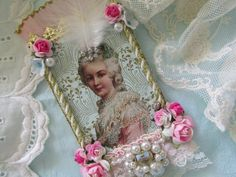 Marie Antoinette Mixed Media Original Collage by underthenightmoon, $30.00