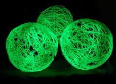 glow in the dark crafts | Get the instructions for ––> Glow in the Dark Spider Balls