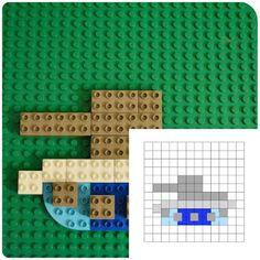 Конструктор в 2Д: создаем мозаику из ЛЕГО//http://www.brick2brick.eu/2016/01/sozdaem-2D-mozaiku-iz-lego.html