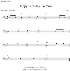 Free Printable Sheet Music: Happy Birthday To You, free easy trombone sheet music notes Easy Sheet Music, Song Sheet, Sheet Music Notes, Digital Sheet Music, Vintage Sheet Music, Music Sheets, Trombone Sheet Music, Cello Music, Diy Mod Podge
