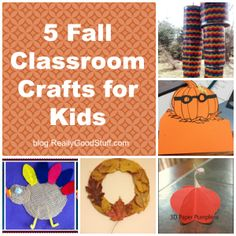 5 Fall Classroom Crafts for Kids