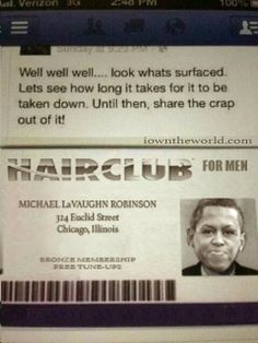 HUSSEIN's 'wife' is a man!! google it: Michael LaVaughn Robinson!!