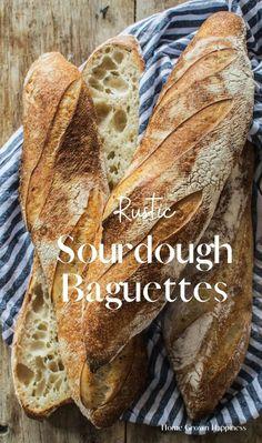 Sourdough French Bread Recipe, Sourdough Starter Discard Recipe, French Bread Starter Recipe, Vegan French Bread Recipe, French Bread Recipes, Sourdough Bread Recipes, Vegan Bread, Baguette Bread, Baguette