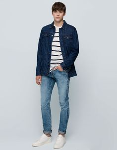 Pull&Bear - man - jeans - slim fit jeans - pale blue - 05688507-I2015
